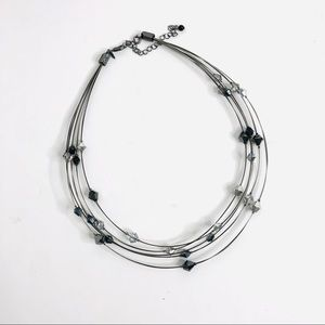 Multi Strand Floating Cut Bead Necklace Avon
